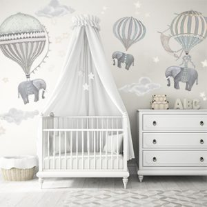 Elephant Nursery in White