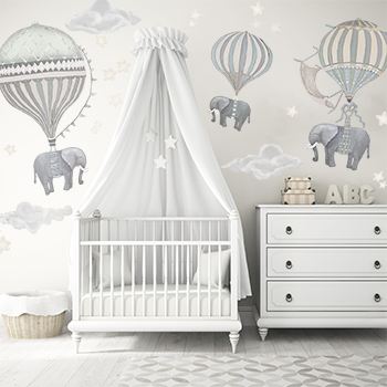 Elephant Nursery in White