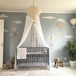 Hot air balloon nursery decor