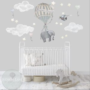 Solo Elephant Nursery Wall Decor