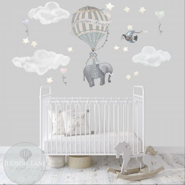 Solo Elephant Nursery Wall Decor