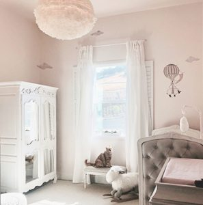 Hot Air Balloon wall decals pink