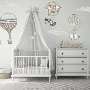 Gender neutral Hot Air Balloon Nursery