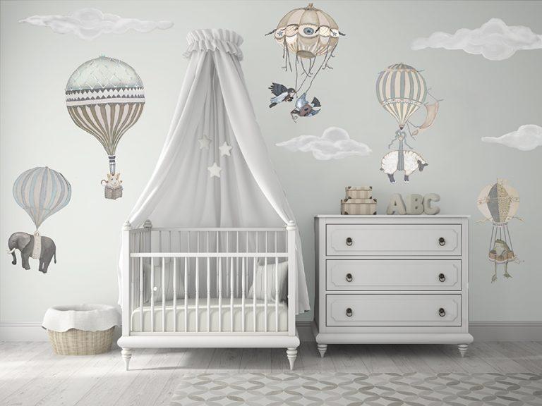 Gender neutral Hot Air Balloon Nursery
