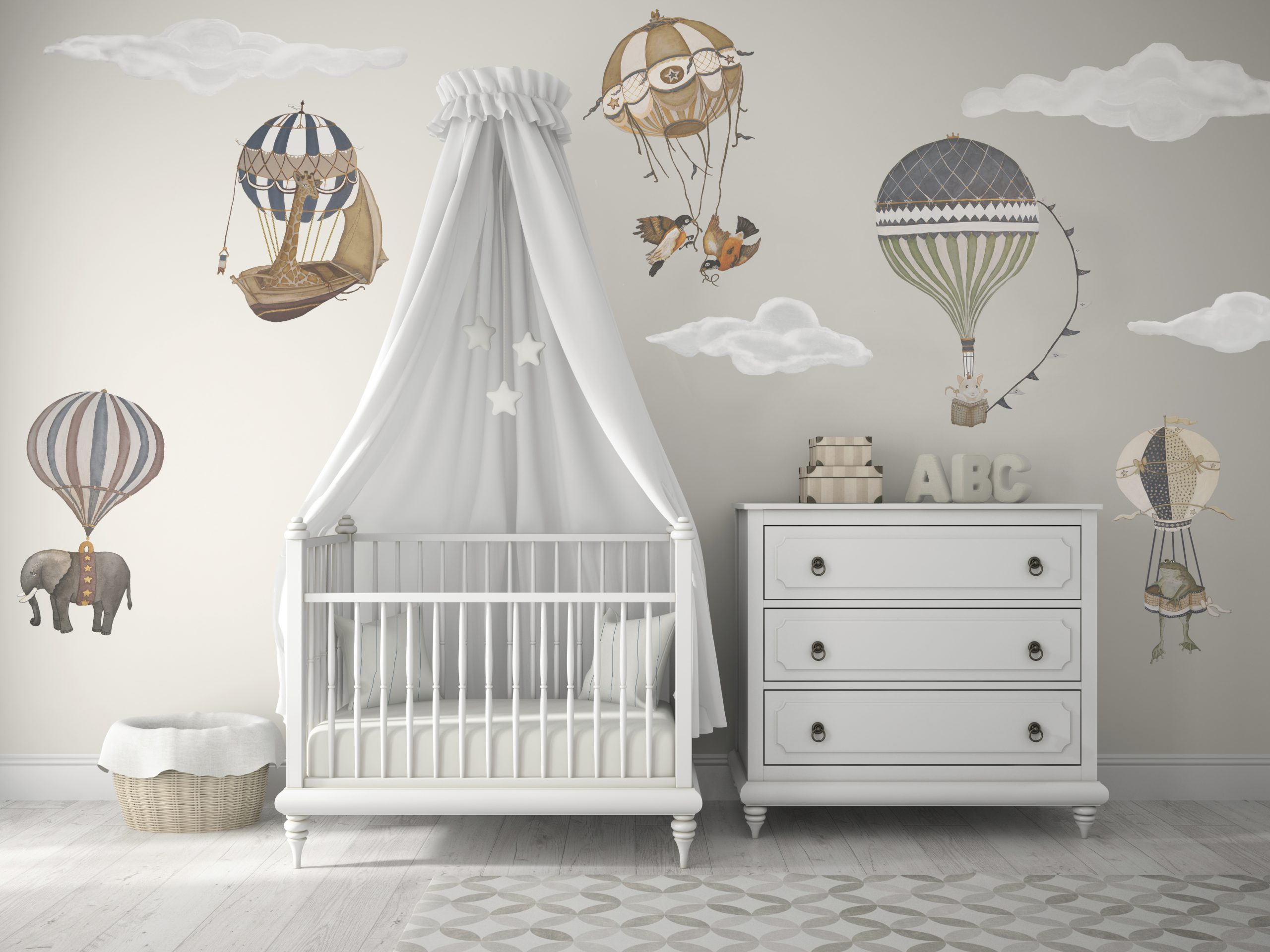 Vintage Hot Air Balloon wall decals