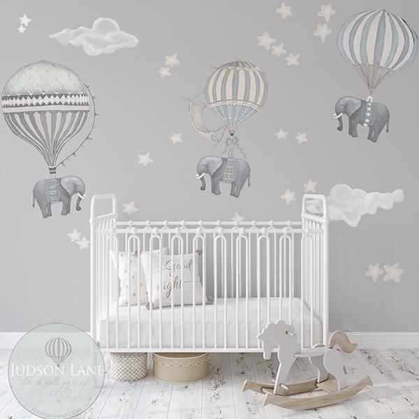 Elephant Nursery Wall Decor
