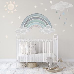 pastel rainbow wall decal